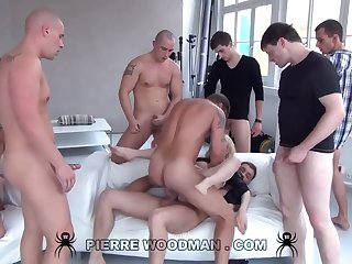Youthfull Russian Debauched Gets Group-Fucked By Eight Wild Pervs