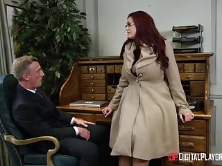 Alessandra Jane plus Emma are having a 3some in their office, instead of capital punishment their job
