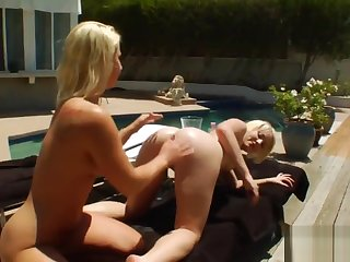 Hot lesbians garrotte their huge asses with whipped voice and rain it out