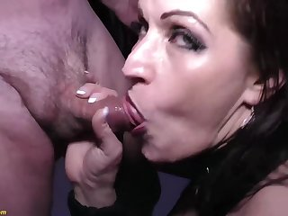 Crazy german MILF tries her first extreme rough imitate anal at our weekly swinger combo unite orgy