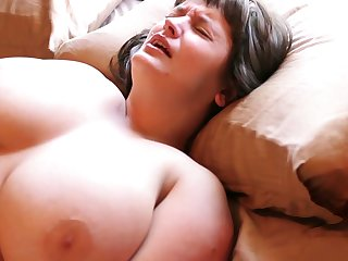 Hairy Aussie with big tits loves masturbating with her vibrating shake a leg