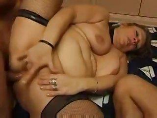 Ludicrous granny seduced younger pals ot fuck