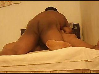 Chubby big racked housewife from India spreads legs for some mish