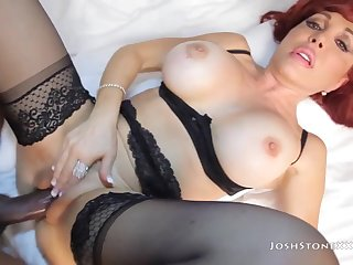Redhead Mature With Stockings Gets Banged