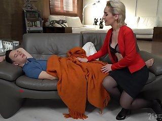 Young pauper has no choice but to fuck his sex-starved stepmom Di Devi