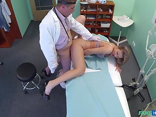Doctor with big dick, infatuated sexual tryout with a patient