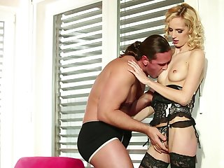 Awesome lingerie enjoyment from plus nuisance cumshot with babe Jenny Smart