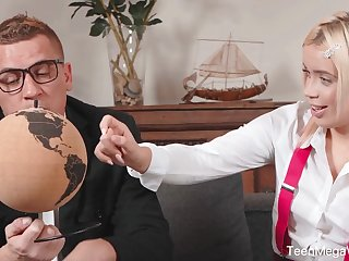 Geography teacher fuck student handy private lesson